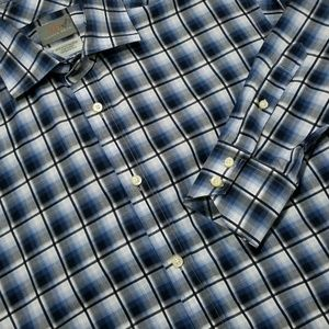 Plaid THOMAS DEAN Casual Long sleeve Dress Shirt